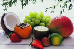 grapes, Coconuts, Food, Strawberries