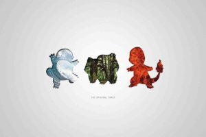 Charmander, Bulbasaur, Squirtle, Pokemon First Generation