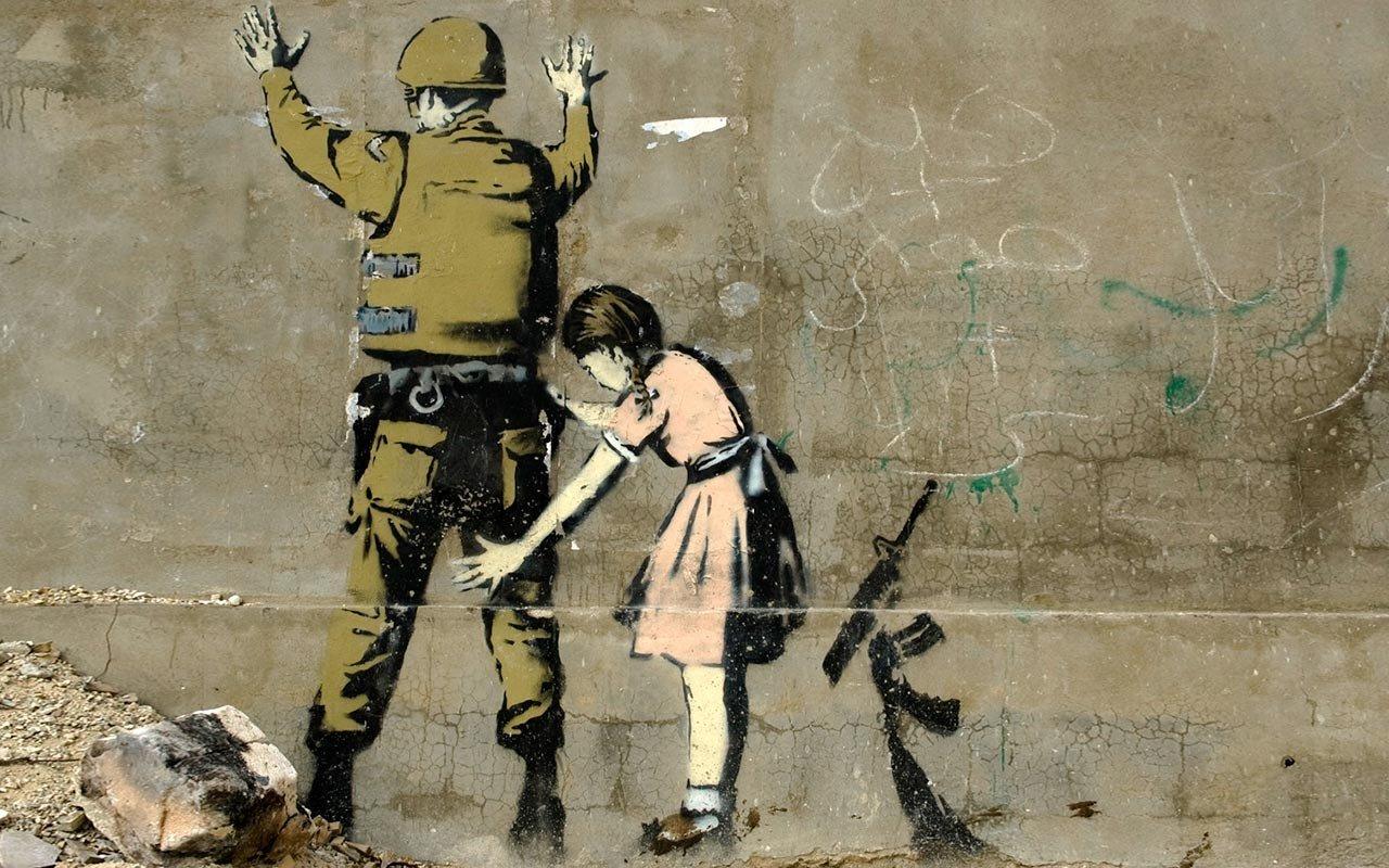 children, Banksy, Graffiti Wallpaper