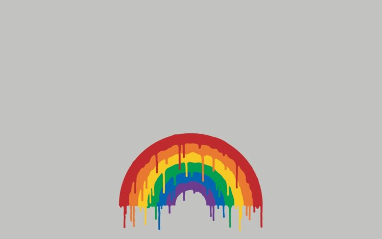 melting, Rainbows, Minimalism HD Wallpaper Desktop Background