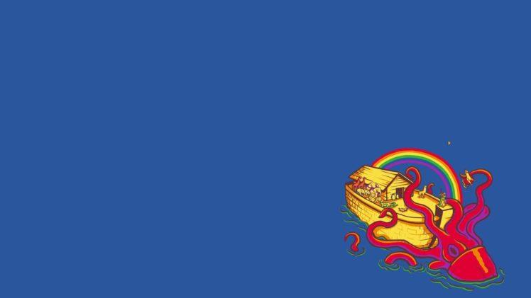 threadless, Blue, Cthulu, Ark HD Wallpaper Desktop Background