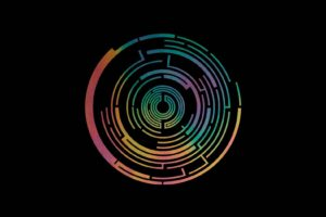 Pendulum, In Silico, Logo, Music, Black background, Colorful