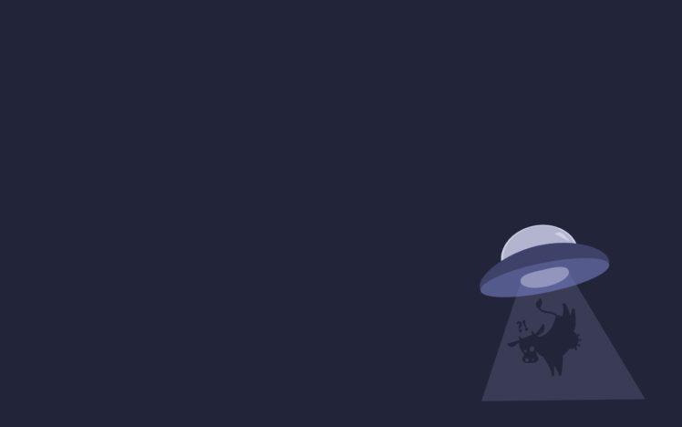 UFO, Minimalism, Cows HD Wallpaper Desktop Background