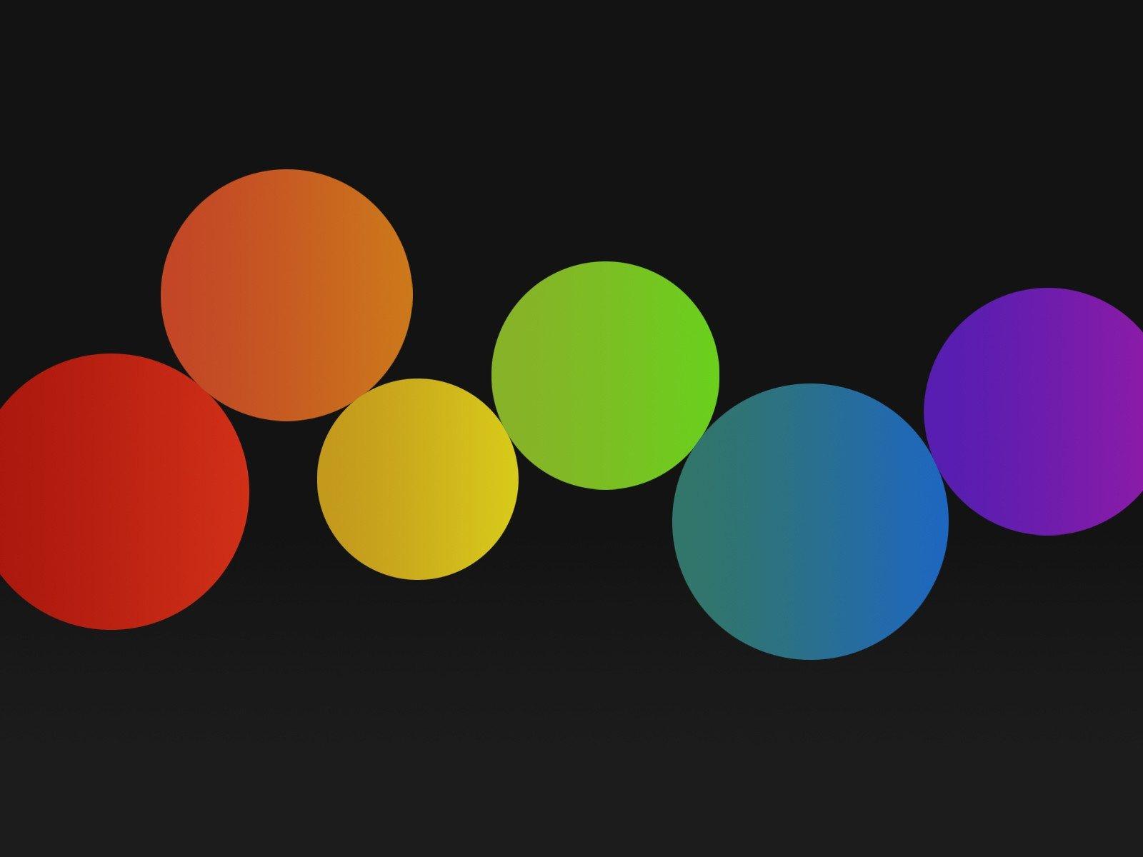 circle, Spectrum, Minimalism Wallpaper