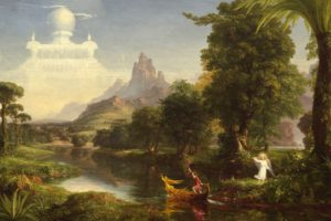 Thomas Cole, The Voyage of Life: Youth, Painting, Classic art