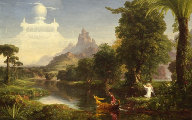 Thomas Cole The Voyage Of Life Youth Painting Classic Art Hd