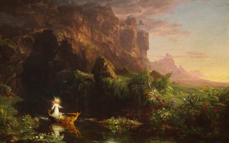 Thomas Cole The Voyage Of Life Childhood Painting Classic Art