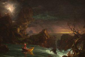 Thomas Cole, The Voyage of Life: Manhood, Painting, Classic art