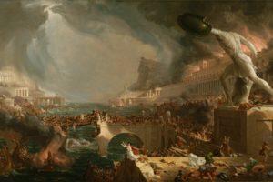 Thomas Cole, The Course of Empire: Destruction, Painting, Classic art
