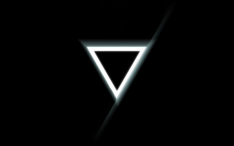 Minimalism Triangle Glowing Black Background Hd Wallpapers Desktop And Mobile Images Photos