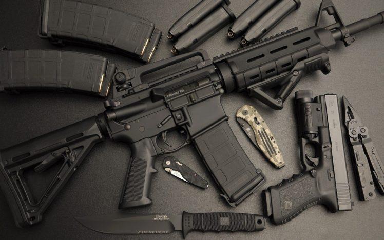 Gun ammunition knife assault rifle pistol glock ar - Glock wallpaper ...