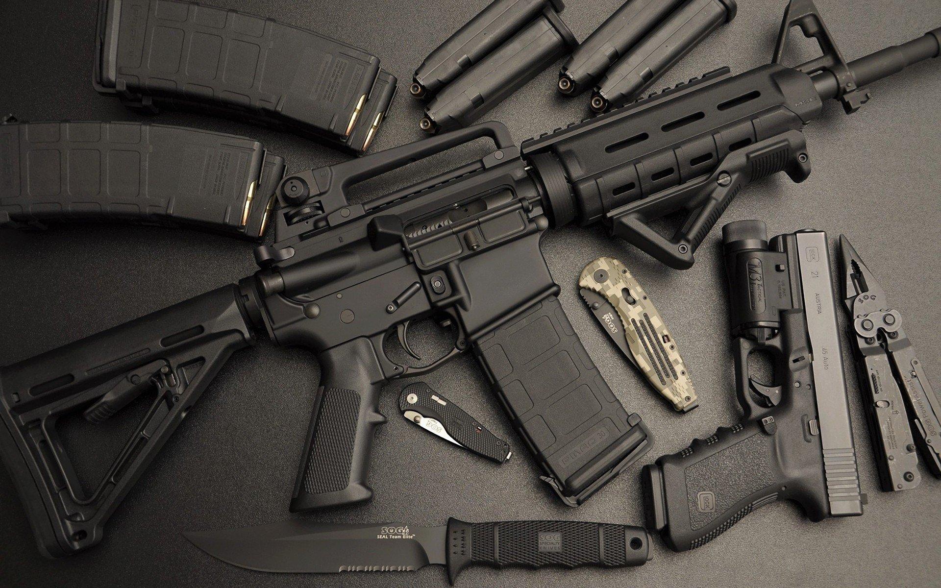 Assault rifle, Pistol, Glock, AR 15