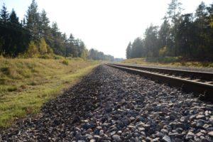 power lines, Railway, Trees, Stones