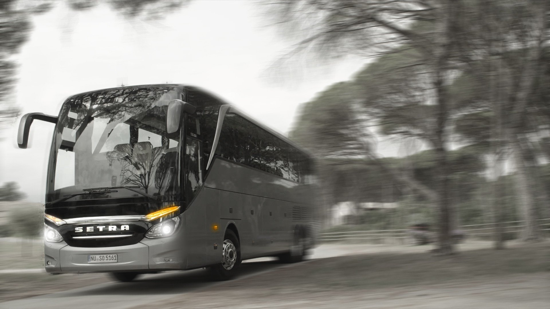 Setra Coach Buses Selective Coloring Hd Wallpapers Desktop And Mobile Images Photos