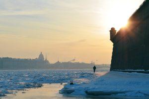city, St. Petersburg, Snow
