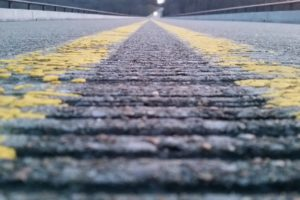 road, Worms eye view