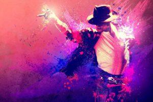 Michael Jackson, Singer, Paint splatter