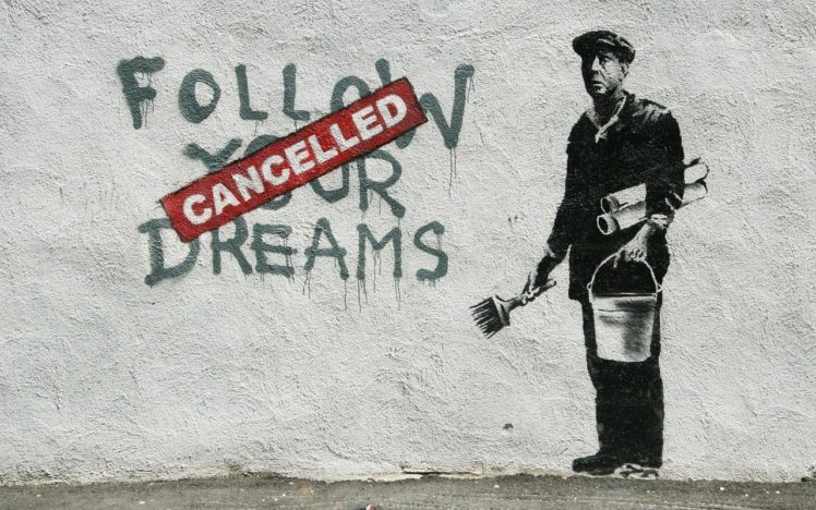 graffiti, Banksy HD Wallpaper Desktop Background