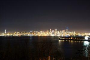 Seattle, City, Night