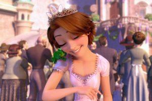 Tangled, Disney, Princesses, Rapunzel, Pascal (character), Happy, Love