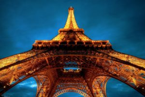Eiffel Tower, Paris, Worms eye view, Architecture
