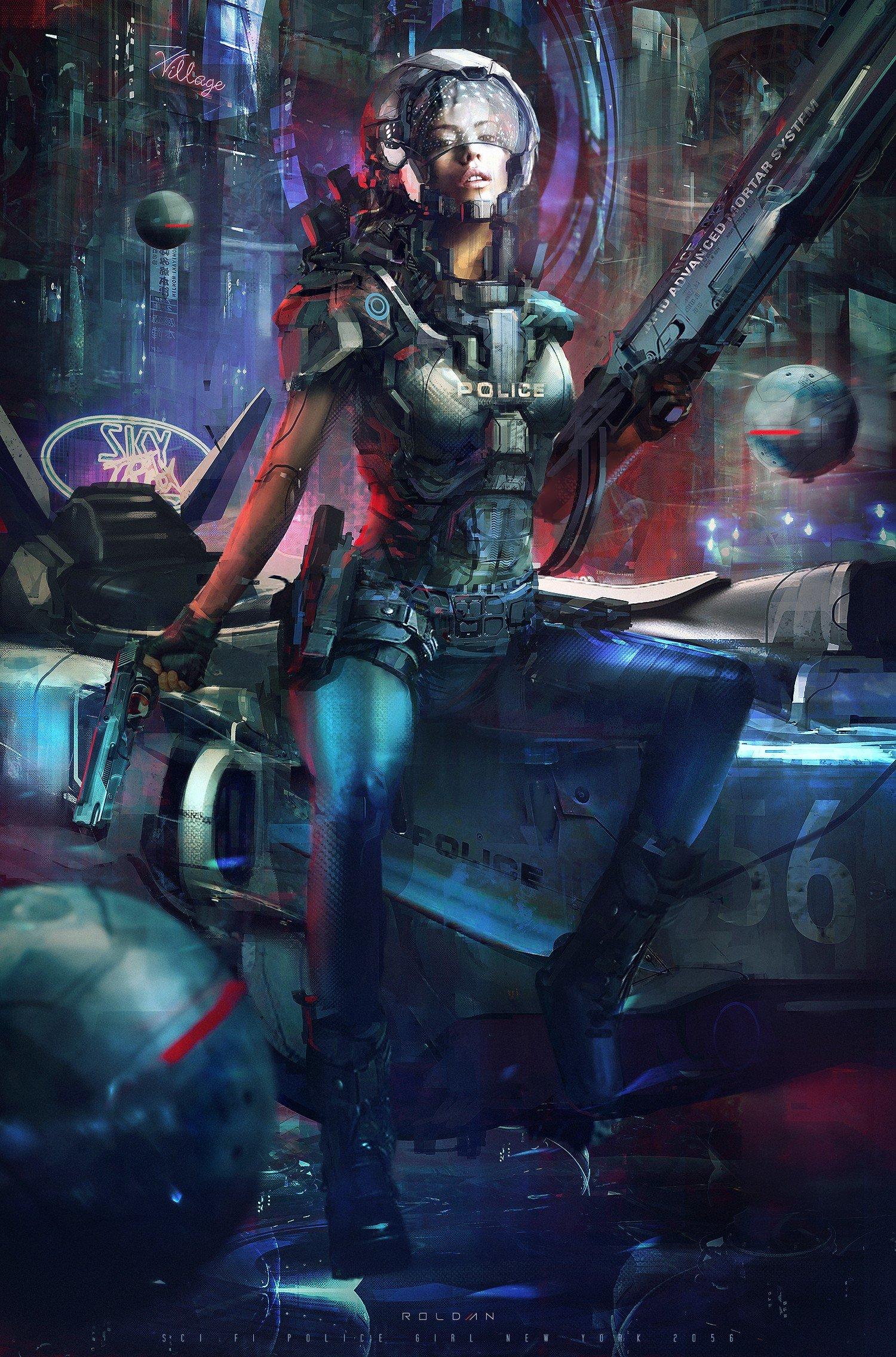 police, Cyberpunk, Futuristic HD Wallpapers / Desktop and ...