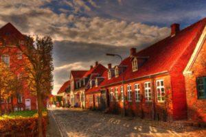 photo manipulation, Street, House, Denmark