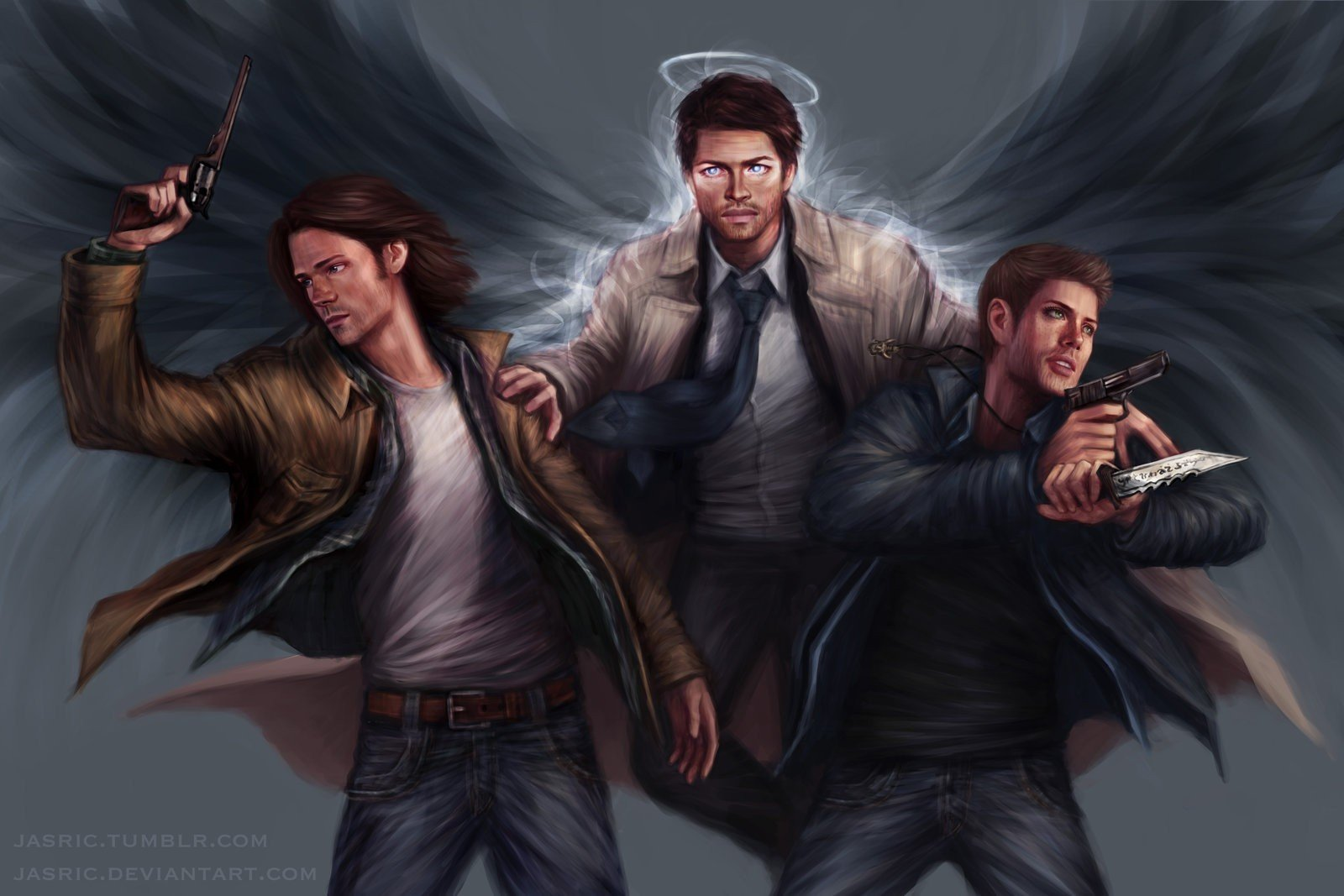 dean winchester // supernatural by Angel--Spirit on DeviantArt |Supernatural Dean Angel