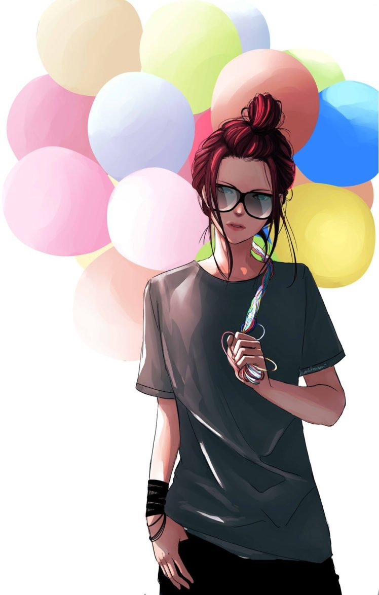 balloons, Drawing HD Wallpaper Desktop Background