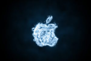 Apple Inc., Water drops, Logo, Simple background