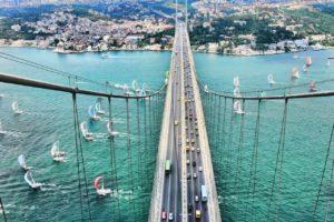 Istanbul, Bridge, Sailing ship
