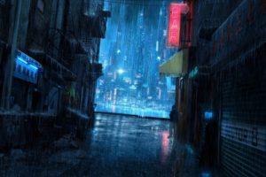 rain, City