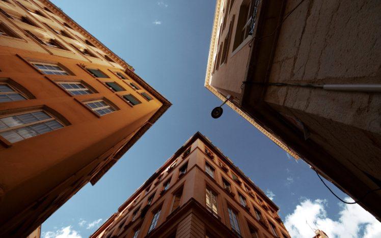 photography, Urban exploration, Worms eye view HD Wallpaper Desktop Background