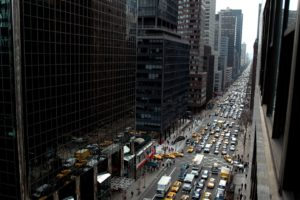 New York City, Street, Traffic, City, Building, Taxi