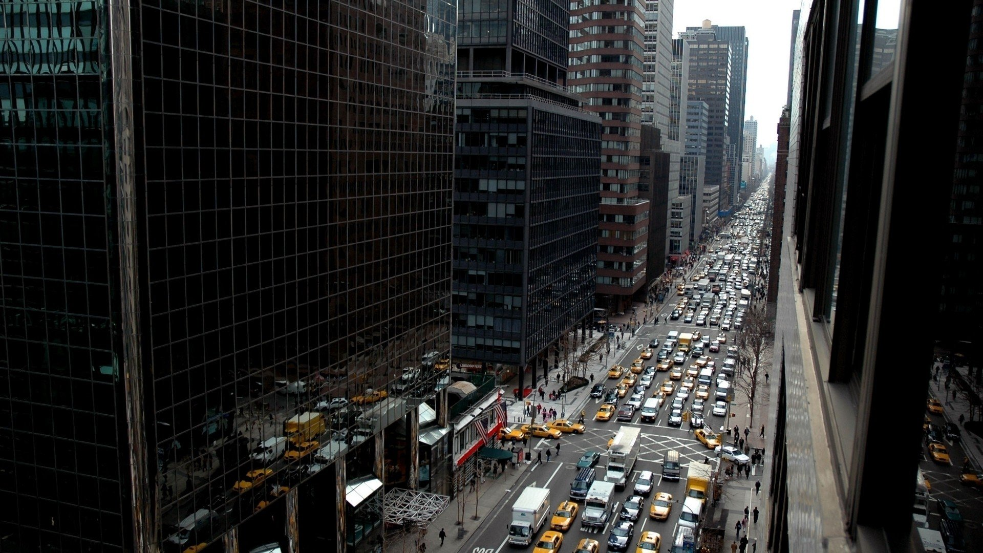 New York City, Street, Traffic, City, Building, Taxi HD