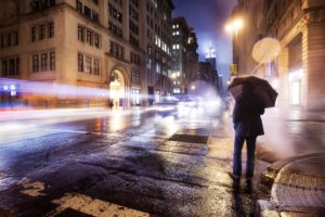 long exposure, Intersections, Umbrella, Light trails