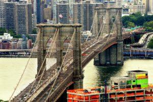 USA, Bridge, Brooklyn Bridge, New York City