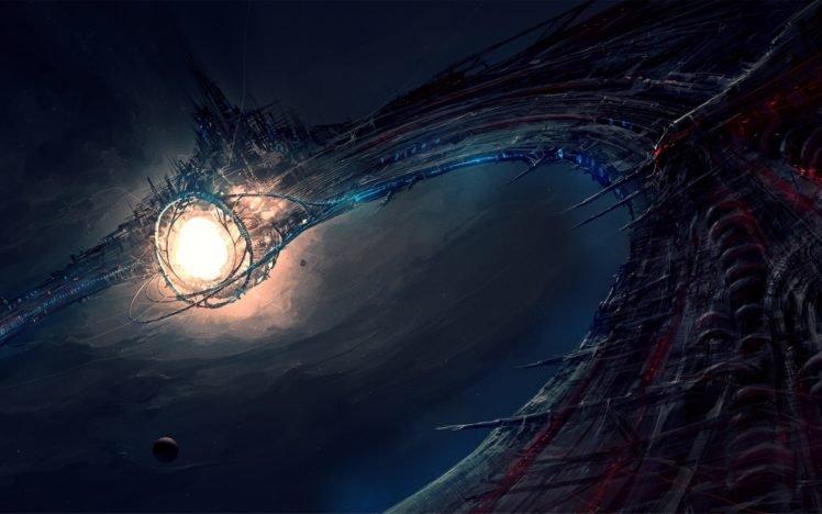 science Fiction, Artwork, Space Station, Futuristic HD Wallpaper Desktop Background