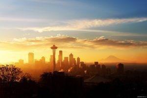 Seattle, Skyline, Space Needle