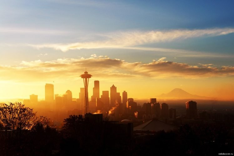 Seattle Skyline Space Needle Hd Wallpapers Desktop And
