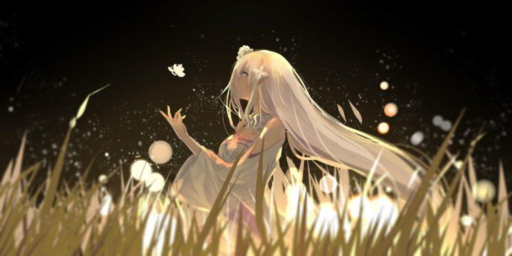 White Hair Cleavage Emilia Re Zero Re Zero Kara