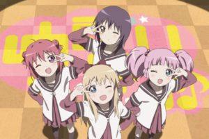 Yuru Yuri, Akaza Akari, Kyoko Toshino, Funami Yui, Yoshikawa Chinatsu, Anime girls