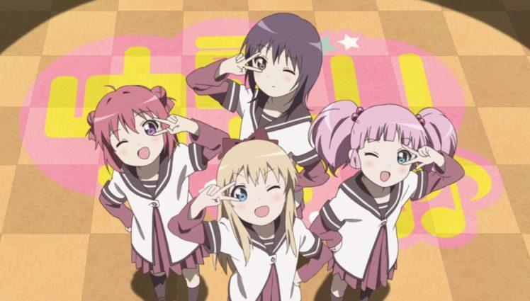 Yuru Yuri, Akaza Akari, Kyoko Toshino, Funami Yui, Yoshikawa Chinatsu, Anime girls HD Wallpaper Desktop Background