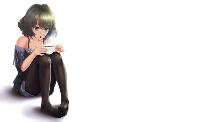 brunette, Short hair, Anime, Anime girls, THE iDOLM@STER: Cinderella Girls, THE iDOLM@STER, Takagaki Kaede, Shorts HD Wallpaper Desktop Background