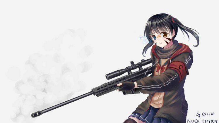 Short hair anime anime girls twintails black hair - Anime sniper girl ...
