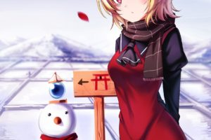 short hair, Blonde, Red eyes, Anime, Anime girls, Inter, Touhou, Rumia