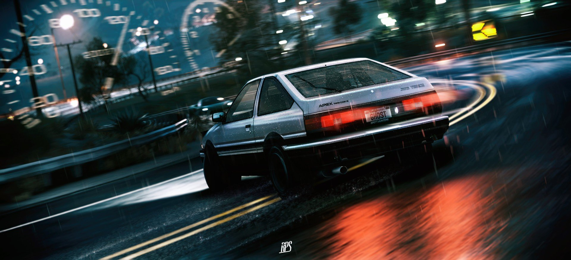Car initial d drift toyota ae86 hd wallpapers desktop - Ae86 initial d wallpaper ...