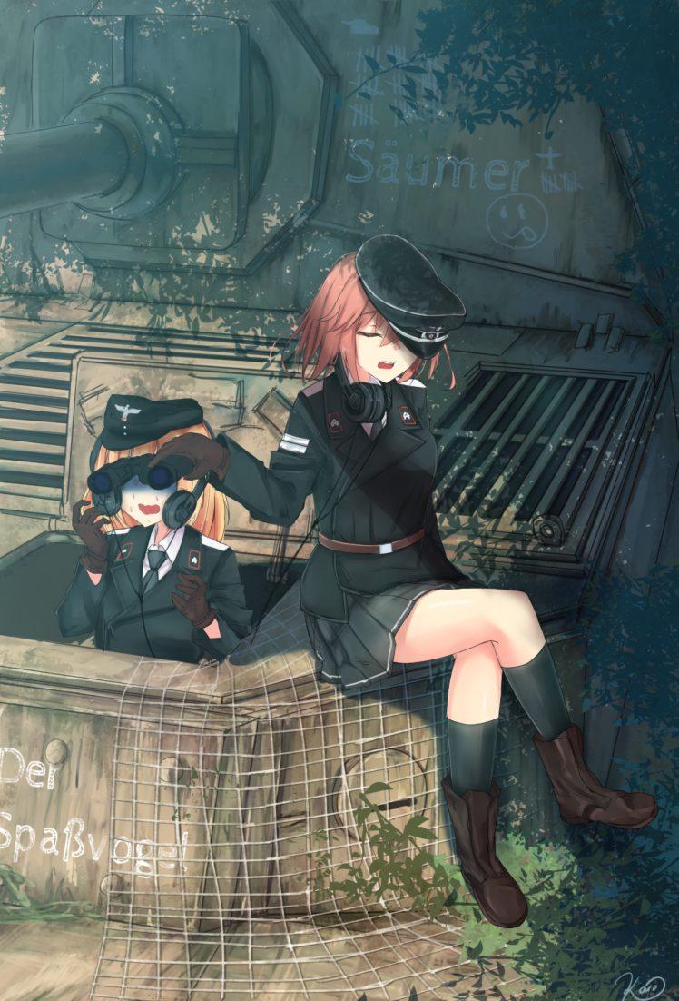 Short hair redhead blonde anime anime girls ferdinand - Anime war wallpaper ...