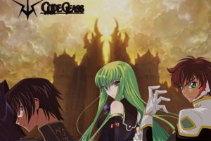 Code Geass, Castle, Lamperouge Lelouch, Kururugi Suzaku, C.C.