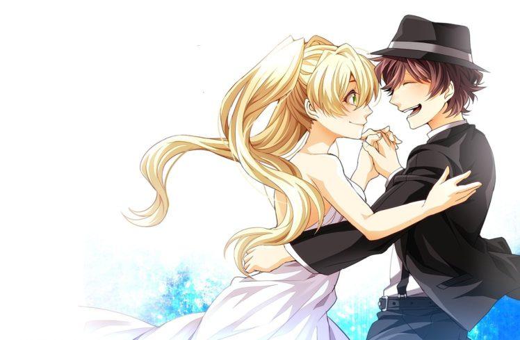 Kekkai Sensen, Leonardo Watch, Mary Macbeth, Anime boys, Hat, Anime, Anime girls HD Wallpaper Desktop Background